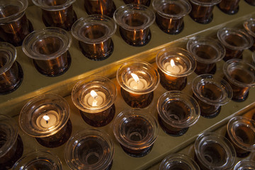 Lit Candles at the Church