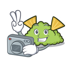 Photographer guacamole mascot cartoon style