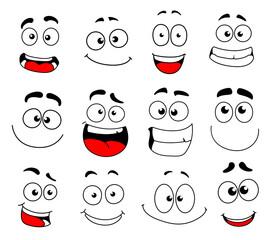 Face emotion icon of emoticon, smiley and emoji