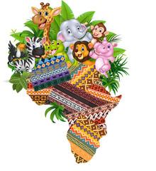 cartoon African wild animals