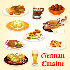 German cuisine icon for Oktoberfest menu design