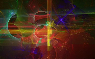 A abstract fractal background created using the recursive fractal flame algorithm.