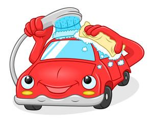 Cartoon car washes