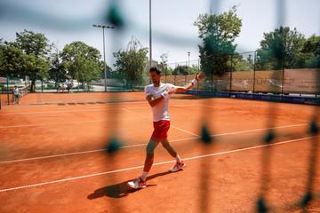 Djokovic training session