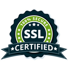 SSL Certified label illustration