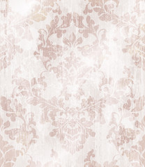 Baroque ornament wallpaper background. Vector delicate pattern. Royal pink decorations tiles