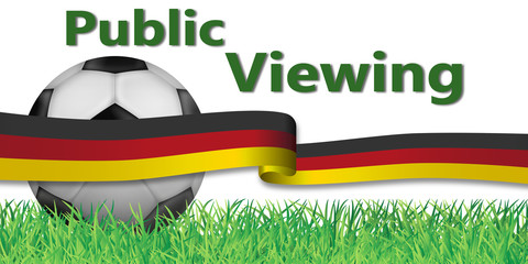 Fußball - Public Viewing Banner