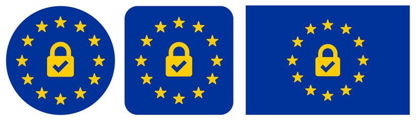 Euro Security Lock Icons