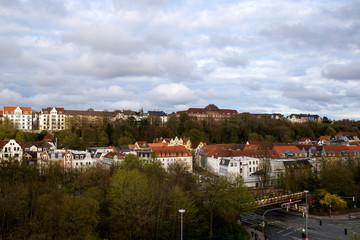 Panoram Blick auf Flensburg / Jürgensby mit Goethe-Schule