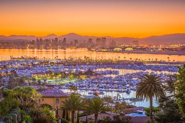 Fotomurales - San Diego, California, USA Skyline