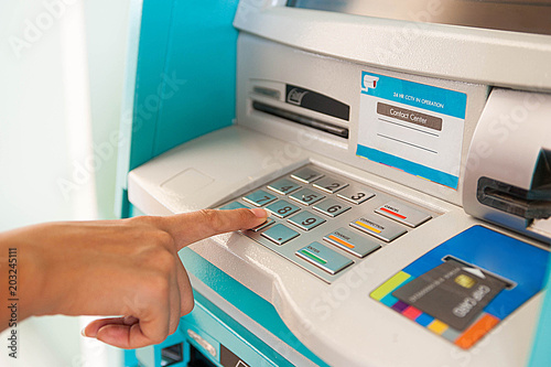 Enter ATM code,Withdrawing money from an ATM,Enter the code