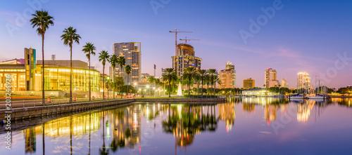 Fototapete St. Petersburg, Florida, USA Skyline