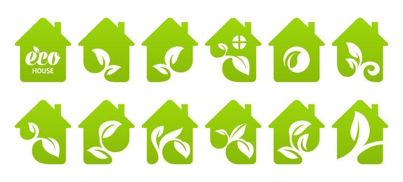 Icon set. Eco house