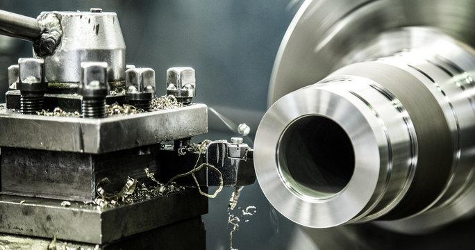 Industry lathe machine work