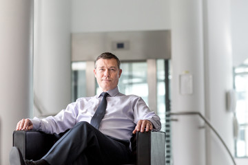 Portrait of senior business executive