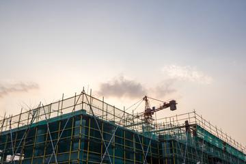 crane with construciton site