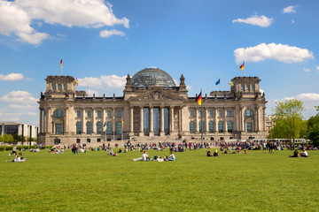 Aluminium Prints Berlin Reichstag building Berlin Germany