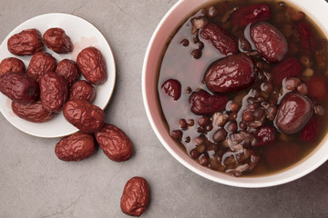 red beans and jujube soup