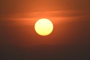 沈む太陽(日本の美しい風景)