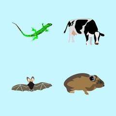 icons about Animal with farm, animals, black, zoo and image