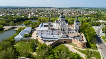 Aerial view of Monastery of the bare Carmelites in Berdichev, Ukraine