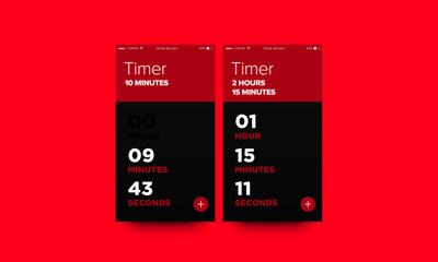 Time App UX UI Design For Smart Phones