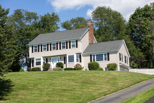 American traditional Colonial house