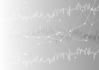 Financial graph with a linear diagram, a histogram in the stock market. Abstract vector background .