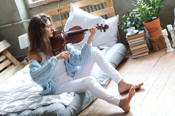 Musician in bed