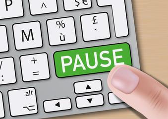 pause - travail - détente - pause café - ordinateur - clavier - entreprise - horaire - temps de travail