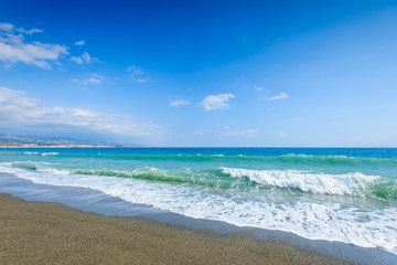 Playa de Torre del Mar, Velez-Malaga, Andalusia, Spain