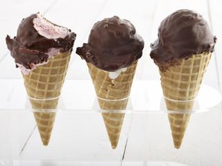 Strawberry Ice Cream with Cone
