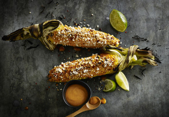 Grilled Corn Elote