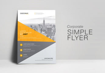 Wavy Corporate Flyer Layout