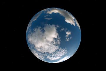 Planet Erde, Himmel, Fishey, rund