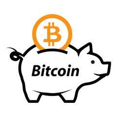 Bitcoin logo. Crypto Currency. Computer money. Vector graphics to design.