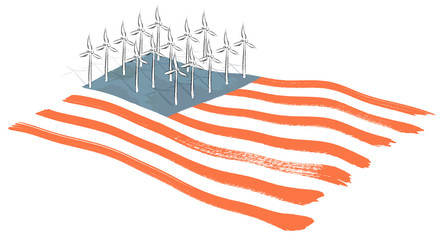 Wind farm U.S. Flag