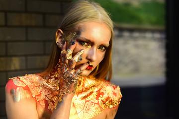 Halloween make up, visage