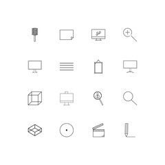 Creative Process And Design linear thin icons set. Outlined simple vector icons