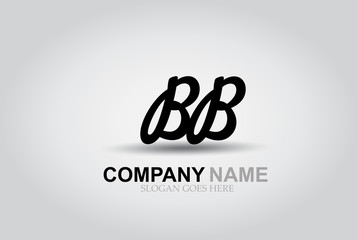 Vector Hand Drawn Letter BB Style Alphabet Font.