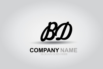 Vector Hand Drawn Letter BD Style Alphabet Font.