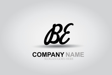 Vector Hand Drawn Letter BE  Style Alphabet Font.