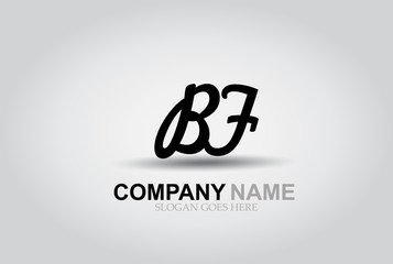 Vector Hand Drawn Letter BF Style Alphabet Font.