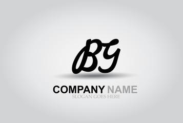 Vector Hand Drawn Letter BG Style Alphabet Font.