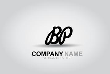 Vector Hand Drawn Letter BP Style Alphabet Font.