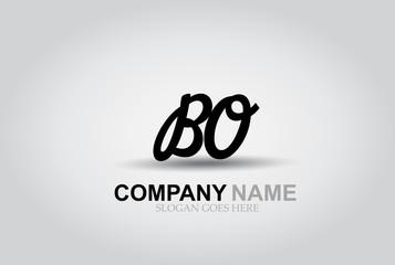 Vector Hand Drawn Letter BO Style Alphabet Font.