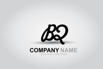 Vector Hand Drawn Letter BQ Style Alphabet Font.