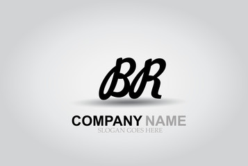 Vector Hand Drawn Letter BR Style Alphabet Font.