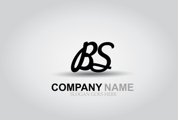 Vector Hand Drawn Letter BS Style Alphabet Font.