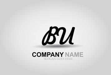 Vector Hand Drawn Letter BU Style Alphabet Font.
